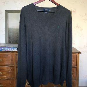 Grey Ralph Lauren Polo Sweater Shirt